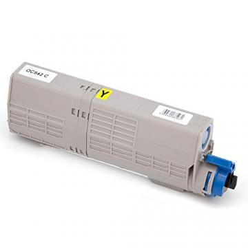 Amarillo T/óner Compatible con Oki C532 C542 MC563 MC573 DN 46490605 6000 p/áginas