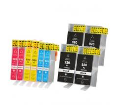 Pack 10 x Tinta Compatible HP 920XL