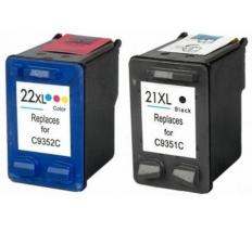Pack 2 x Tinta Compatible HP 21XL / HP 22XL