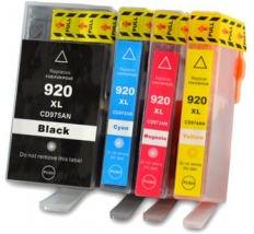 Pack 4 x Tinta Compatible HP 920XL