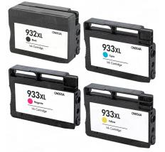 Pack 4 x Tinta Compatible HP 932XL / 933XL